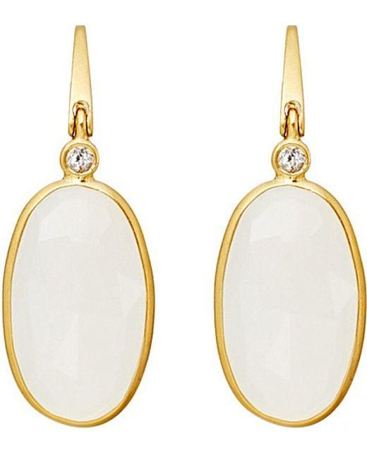 Astley Clarke | Metallic 18ct Gold Vermeil Moonstone Drop Earrings - For Women | Lyst