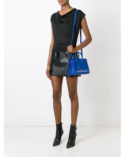 tag handbags - classic nano sac de jour bag in royal blue leather