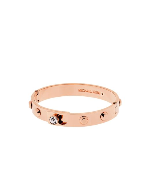 Michael Kors | Pink Astor Rose Gold-tone Bangle | Lyst