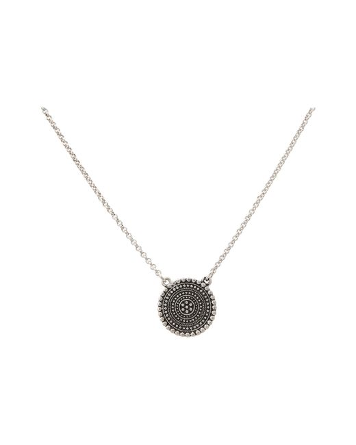 Lucky Brand | Metallic Indigo Trail Pendant Necklace | Lyst