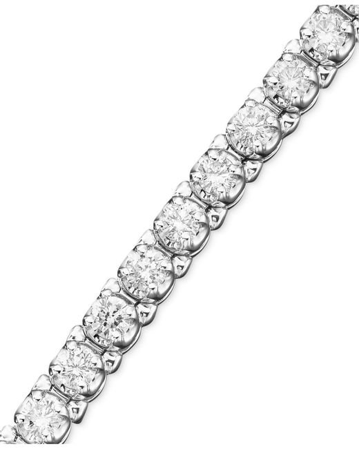 Macy's | Certified Diamond Bracelet In 14K White Gold (3-1/5 Ct. T.W.) | Lyst