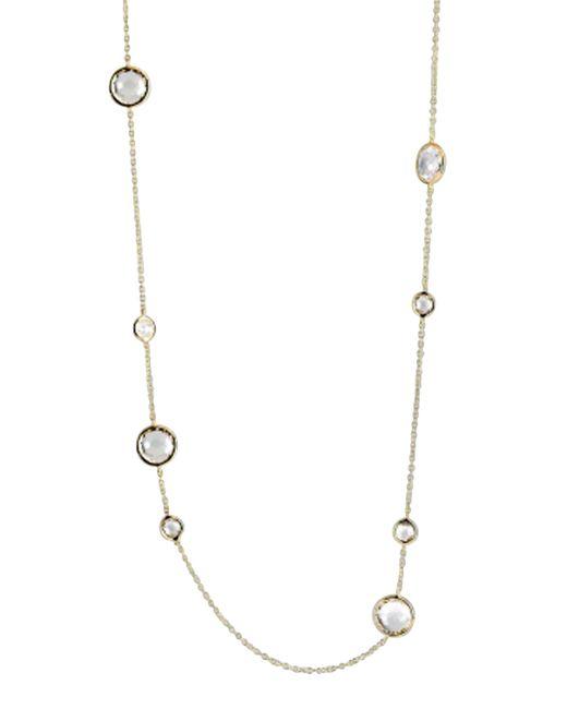 Ippolita | Metallic Clear Quartz Lollipop Necklace 37 | Lyst