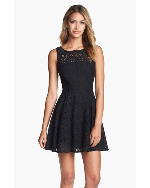 BB Dakota | Black Renley Lace Fit-and-Flare Dress | Lyst