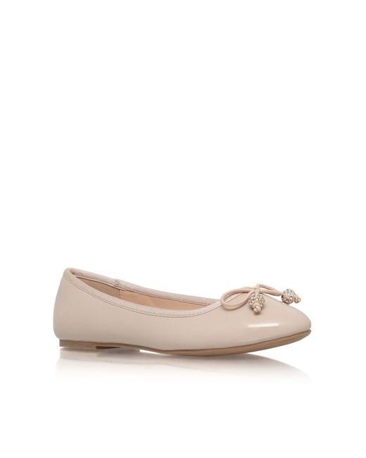 Miss Kg | Natural Millie Flat Slip On Ballerina Pumps | Lyst