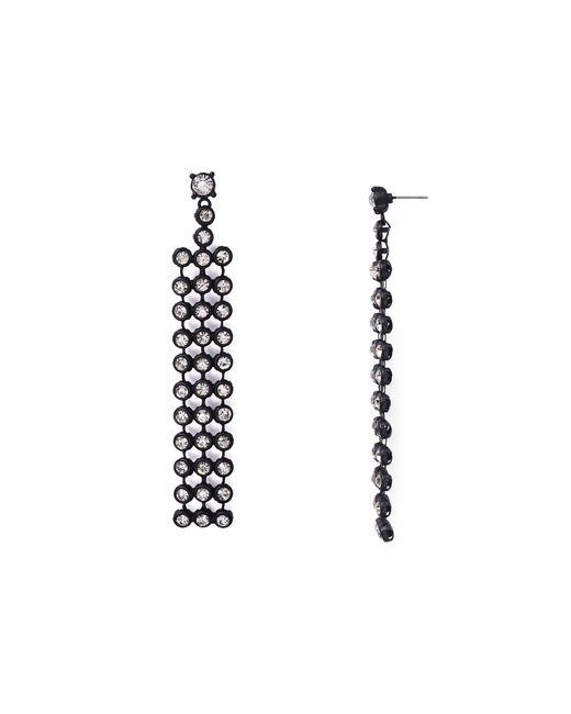 Aqua | Black Chloe Drop Earrings | Lyst