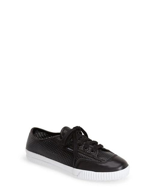 Feiyue | Black 'Fe Lo Plain' Perforated Sneaker | Lyst