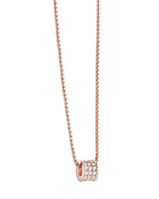 Guess | Pink G Rounds Necklace | Lyst