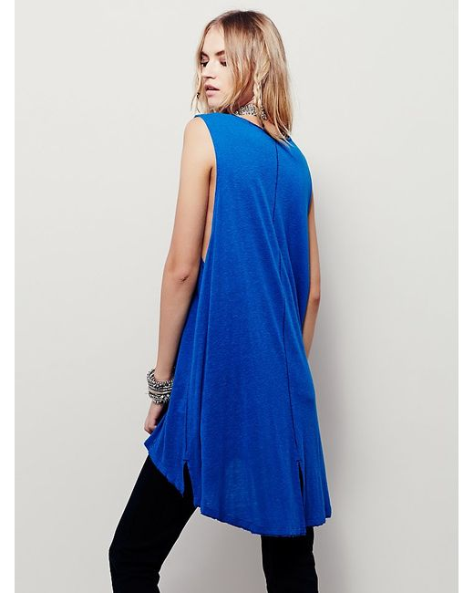 Free People | Blue We The Free Union Henley | Lyst