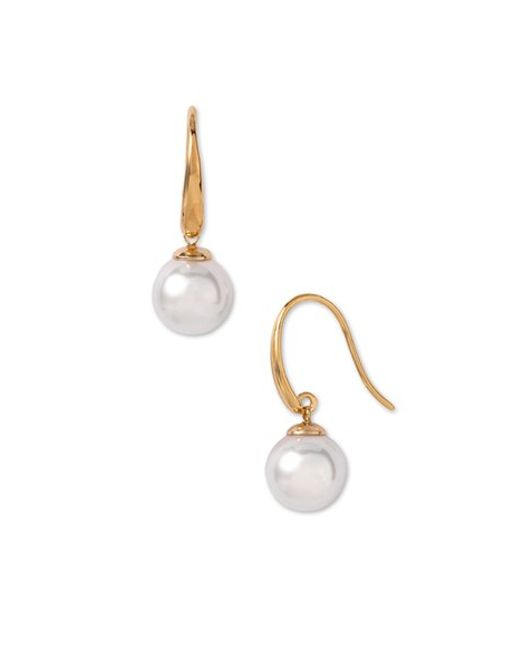 Majorica | White 10mm Pearl Drop Earrings | Lyst