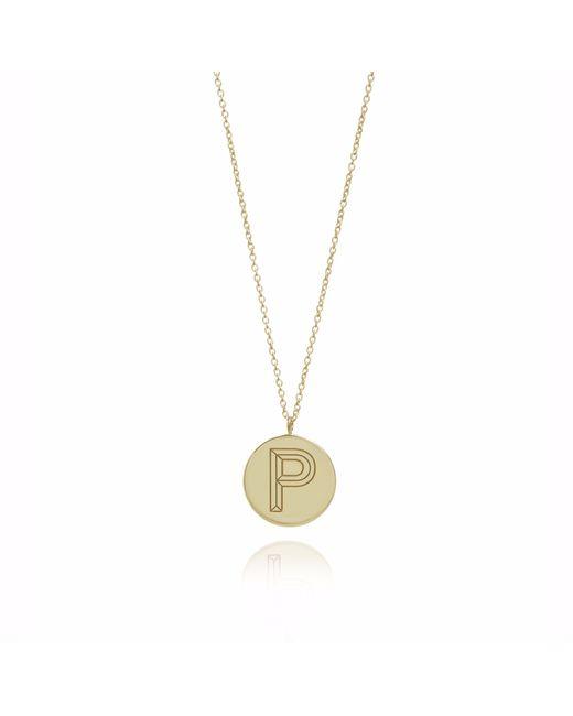 Myia Bonner   Metallic Gold P Facett Initial Necklace   Lyst