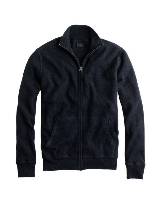 J.Crew | Black Cotton-cashmere Zip Sweater-jacket for Men | Lyst