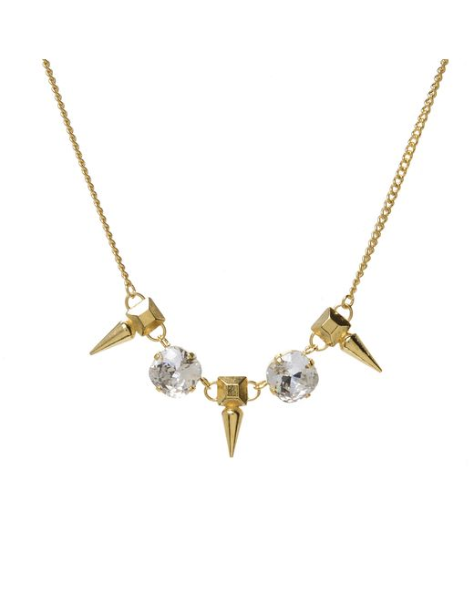 Jill Golden | Metallic Pyramid Spike Crystal Necklace | Lyst