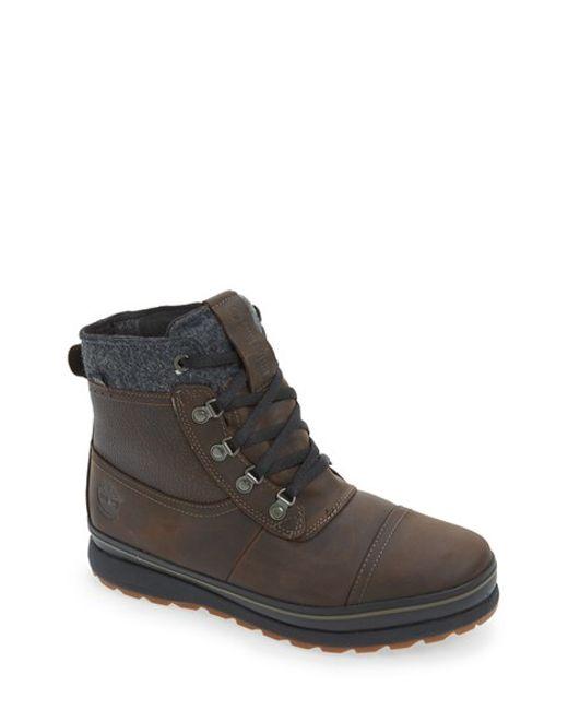 Timberland | Brown 'schazzberg' Insulated Waterproof Boot for Men | Lyst