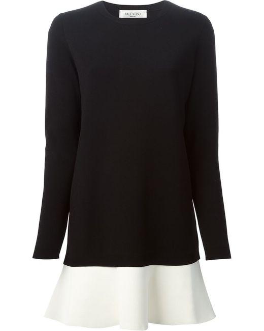 Valentino | Black Color Block Sweater Dress | Lyst