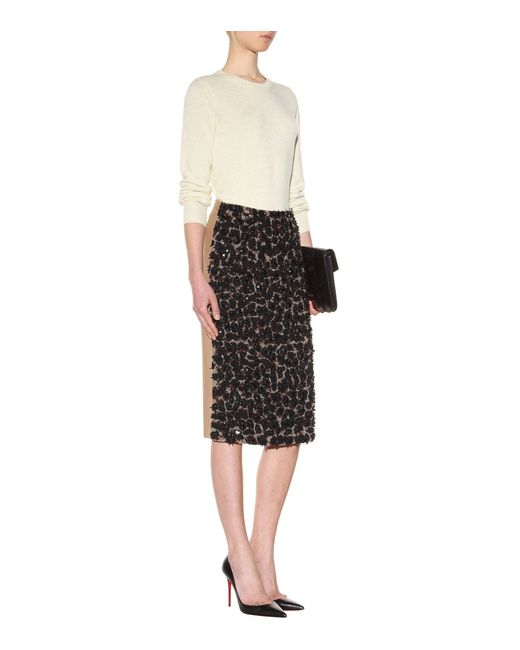 burberry prorsum embellished pencil skirt in black lyst
