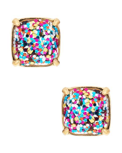 kate spade new york   Multicolor Multi-glitter Square Studs   Lyst