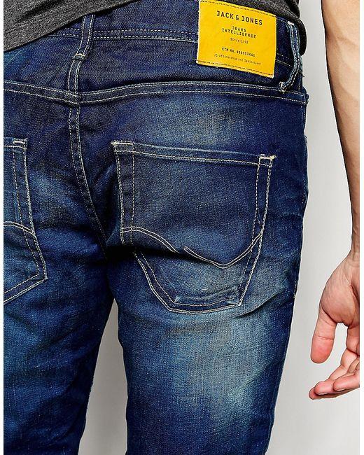jack jones slim fit jeans in blue in multicolor for men. Black Bedroom Furniture Sets. Home Design Ideas