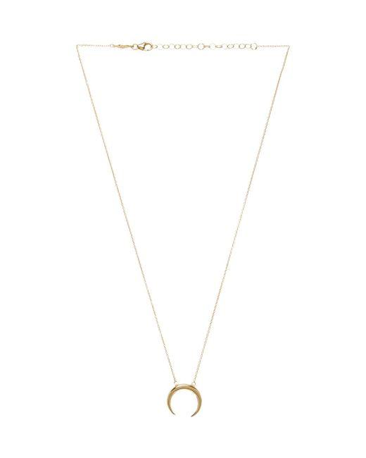 Jacquie Aiche | Metallic Small Crecent Necklace | Lyst