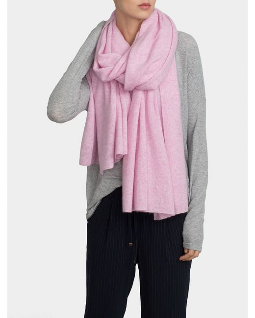 White + warren Cashmere Travel Wrap in Pink (ORCHID ...