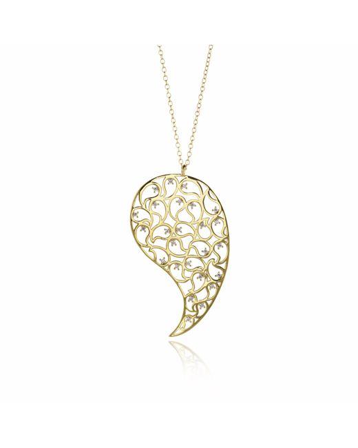 Sonal Bhaskaran | Metallic Jaali Gold Necklace Clear Cz | Lyst