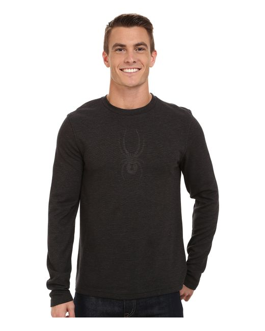 Spyder | Black Pump Therma Stretch T-neck Top for Men | Lyst