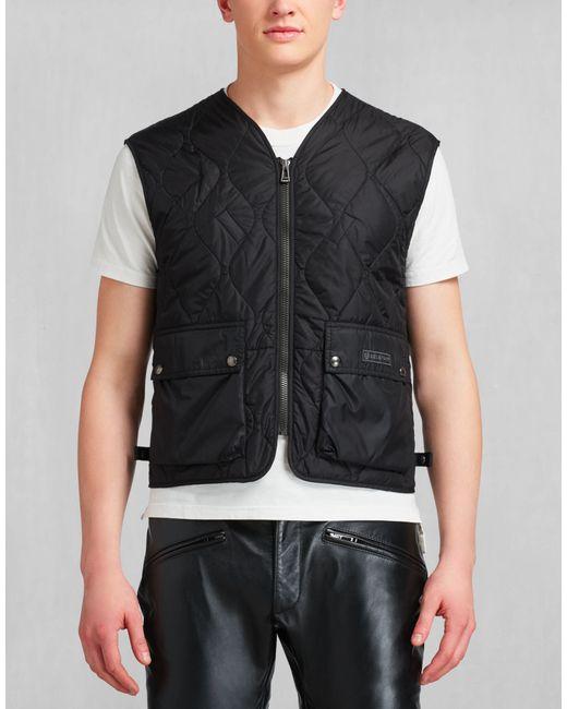 Belstaff | Lambfell Vest In Black Polyamide for Men | Lyst