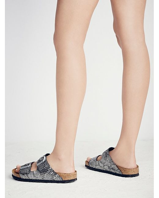 Free People | Metallic Arizona Python Birkenstock | Lyst