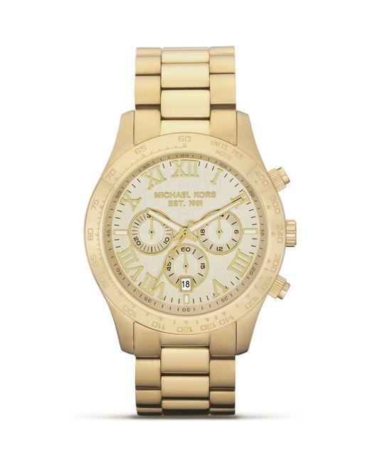 Michael Kors   Men's Round Gold Watch, 45mm for Men   Lyst