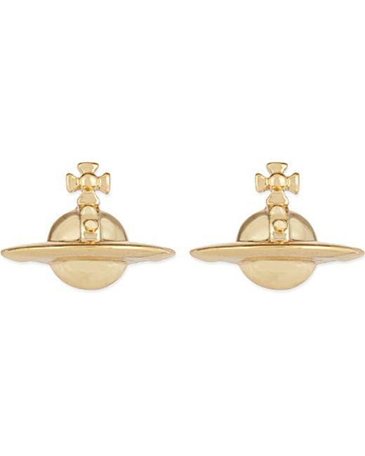 Vivienne Westwood | Metallic Solid Orb Earrings | Lyst