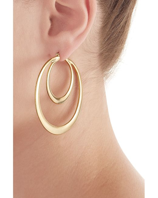Kenneth Jay Lane | Metallic Gold-plated Hoop Earrings - Gold | Lyst