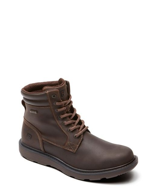 rockport boat builders plain toe boot in brown for