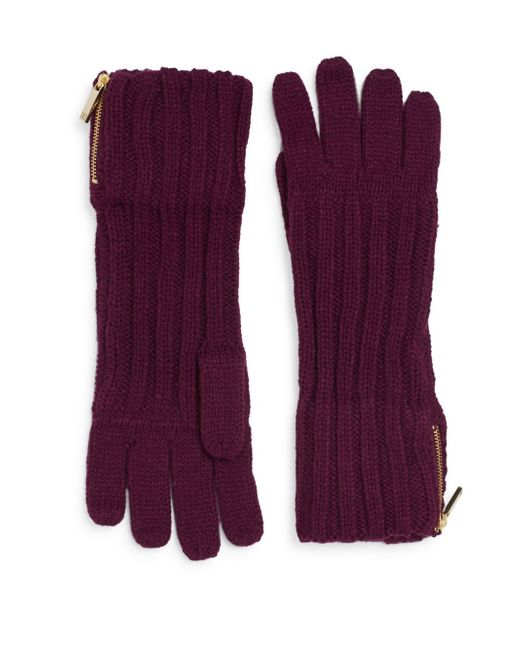 Ivanka Trump | Purple Engineered Zip Gloves | Lyst