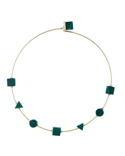 Eshvi | Back To School Malachite Green Choker Necklace | Lyst