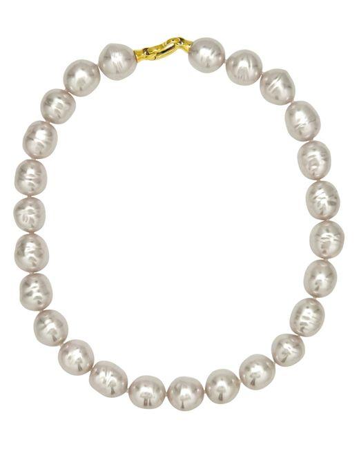 Majorica | Metallic Organic Manmade White Baroque Pearl | Lyst