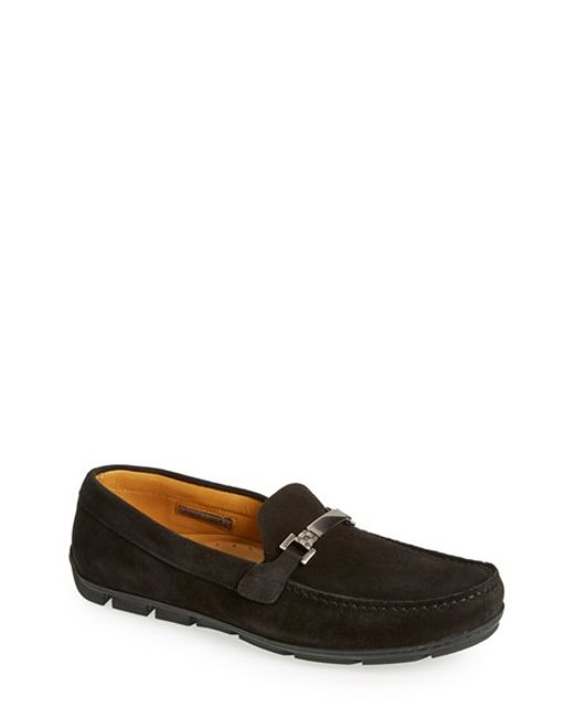 vince camuto doren2 driving shoe in black for lyst