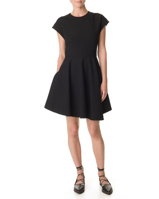 Tibi   Black Anson Stretch Sleeveless Dress   Lyst