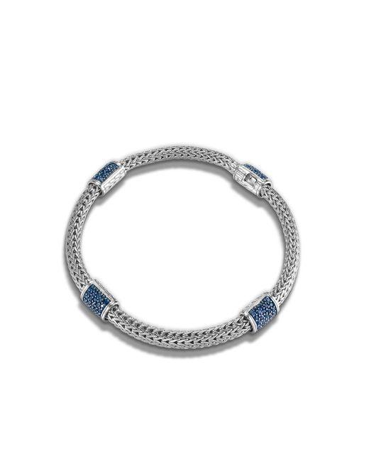 John Hardy   Classic Chain Bracelet With Blue Sapphire   Lyst