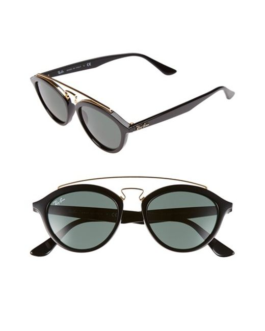 d2bfede307 Ray-ban Rb4191 High Street Round Sunglasses Black