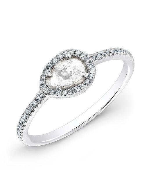 Anne Sisteron | Metallic 14kt White Gold Sasha Diamond Slice Ring | Lyst