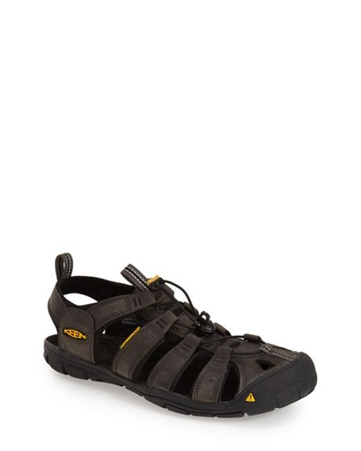 Keen | Black 'clearwater Cnx' Leather Sandal for Men | Lyst