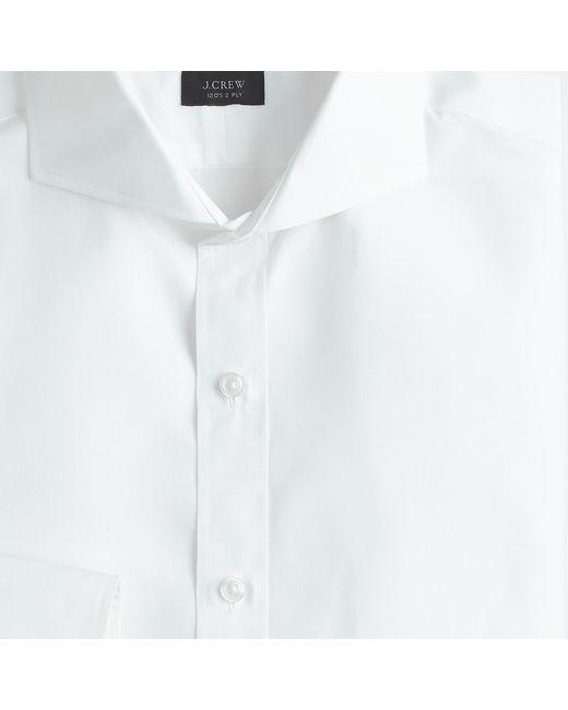 Ludlow cutaway collar shirt in white for men lyst for White cutaway collar shirt
