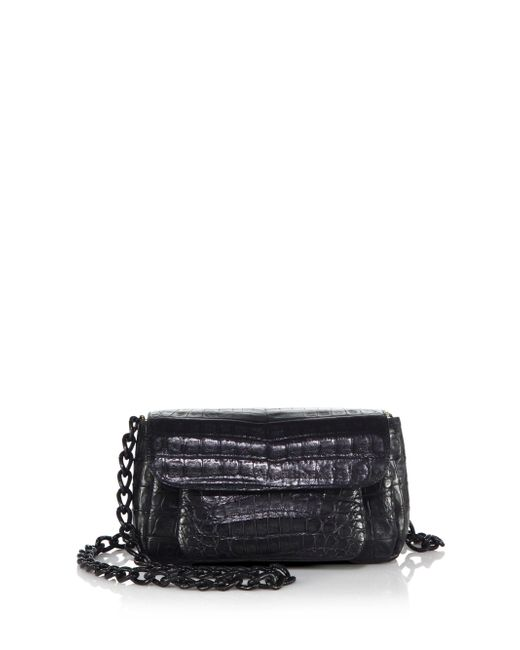 Nancy Gonzalez | Black Mini Crocodile Chain Crossbody Bag | Lyst