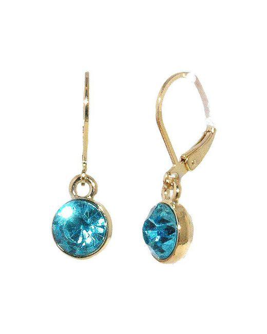 1928 | Blue Zircon Crystal Drop Earrings | Lyst