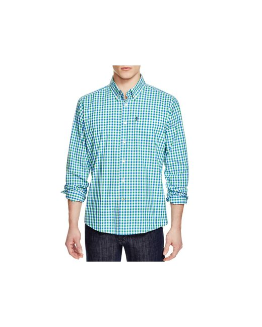Barbour Bruce Gingham Slim Fit Button Down Shirt In Blue