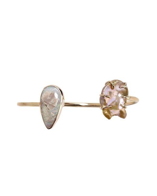 Melissa Joy Manning | Metallic Gold, Pearl And Opal Cuff | Lyst