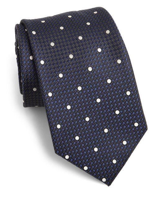 Saks Fifth Avenue | Blue Dot Print Silk Tie for Men | Lyst