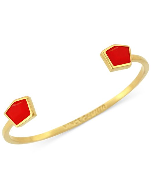 Vince Camuto | Red Gold-tone Stone Open Cuff Bracelet | Lyst