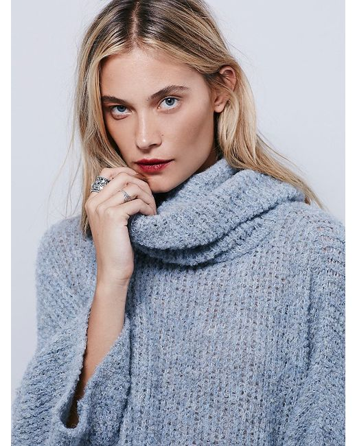 Free People | Blue Extreme Cowl | Lyst