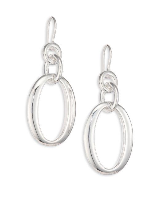 Ippolita | Metallic Glamazon Sterling Silver Oval Link Drop Earrings | Lyst