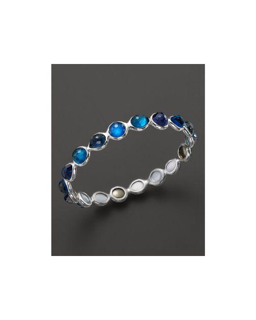 Ippolita | Blue Rock Candy® Sterling Silver Wonderland All Around Bangle In Dark Sea | Lyst
